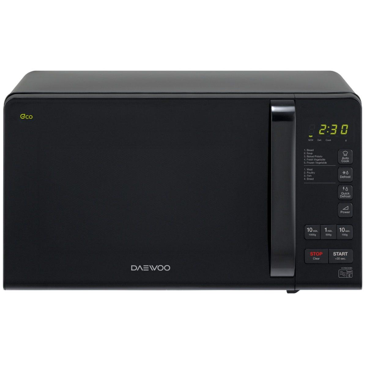Daewoo KOR6M3RR 20L Touch Control 800W Digital Microwave - Black