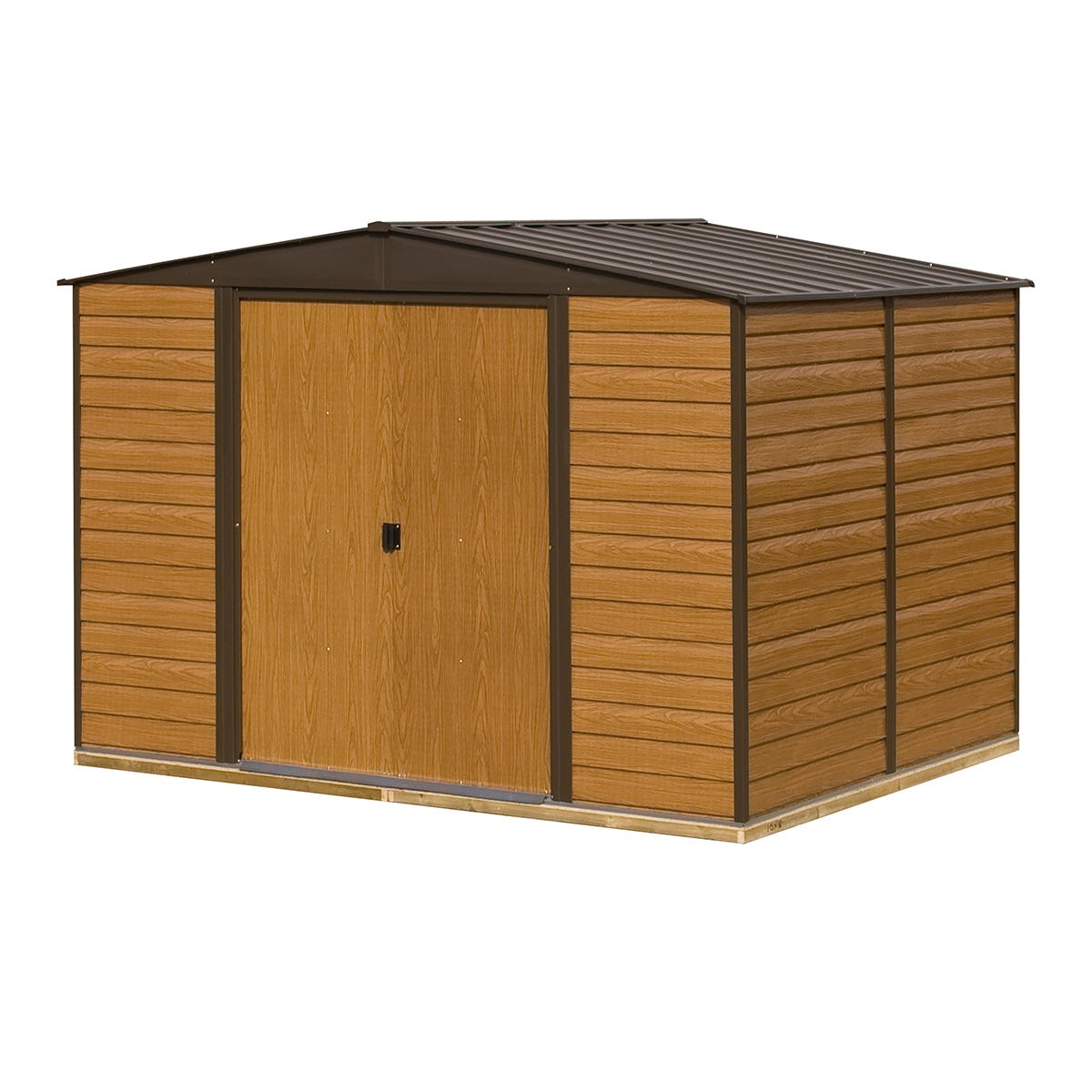Image of Rowlinson 10 x 12 Woodvale Metal Apex Shed With Floor