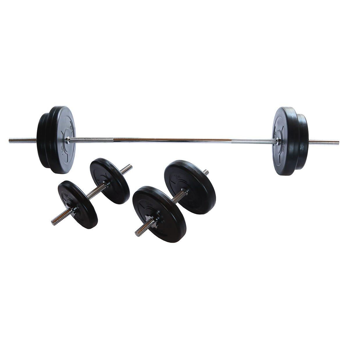 V-fit 50kg Barbell Dumbbell Weight Set