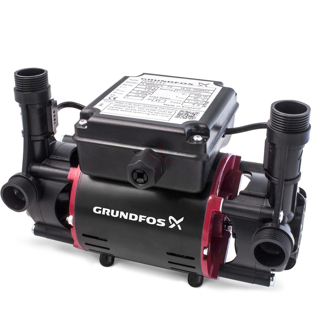 Grundfos STR2 1.5C Twin Impeller Shower Pump