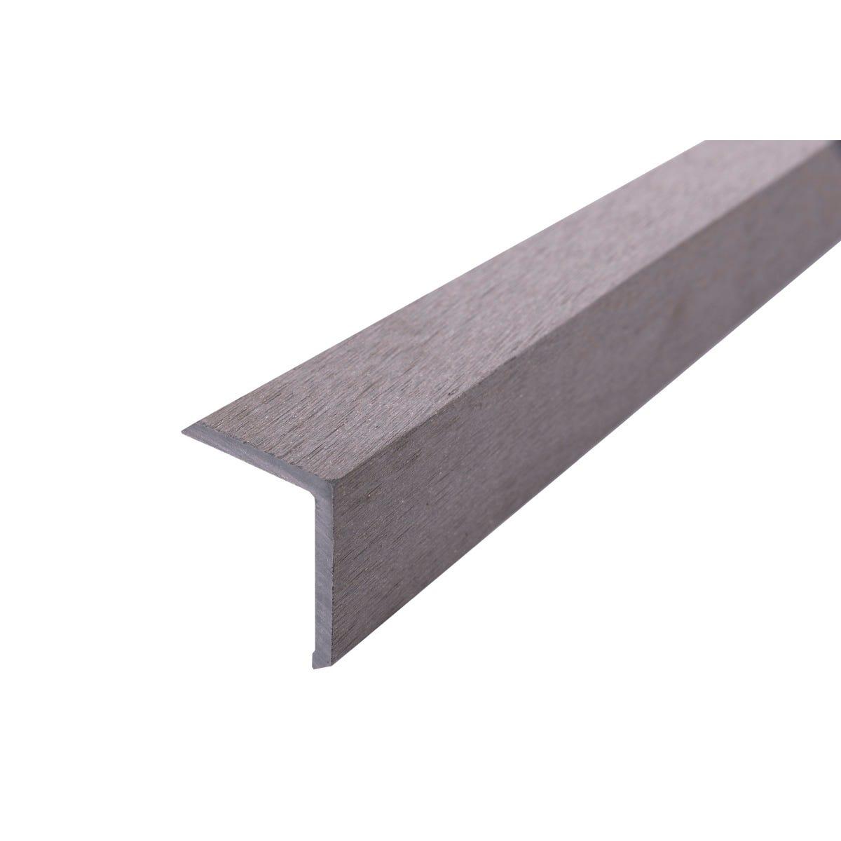 Select Composite Decking 1.8m Corner Trim Pk 5 - Light Grey