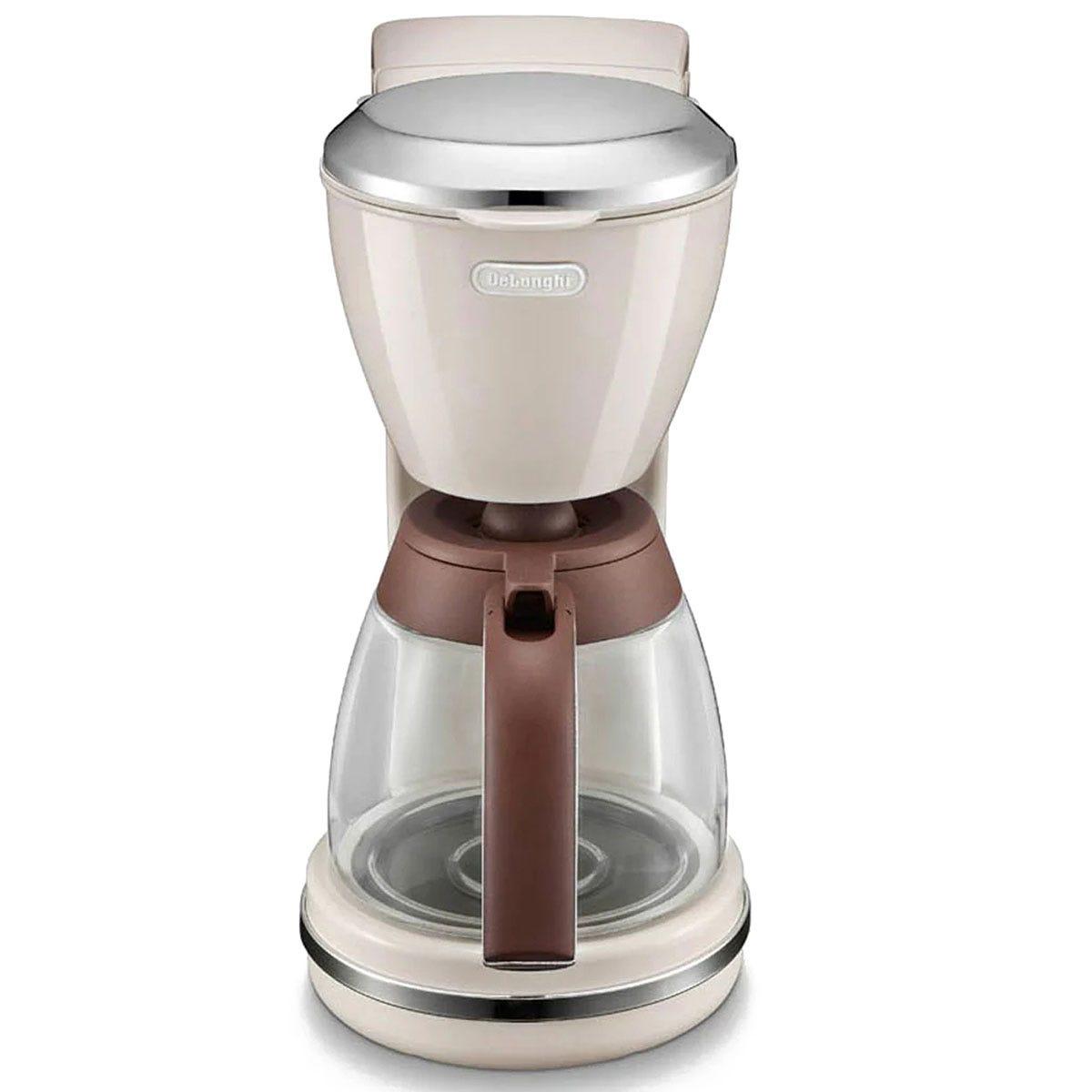 De'Longhi DeLonghi ICMOV210BG Icona Vintage Drip 1.25L 1000W Coffee Machine - Beige