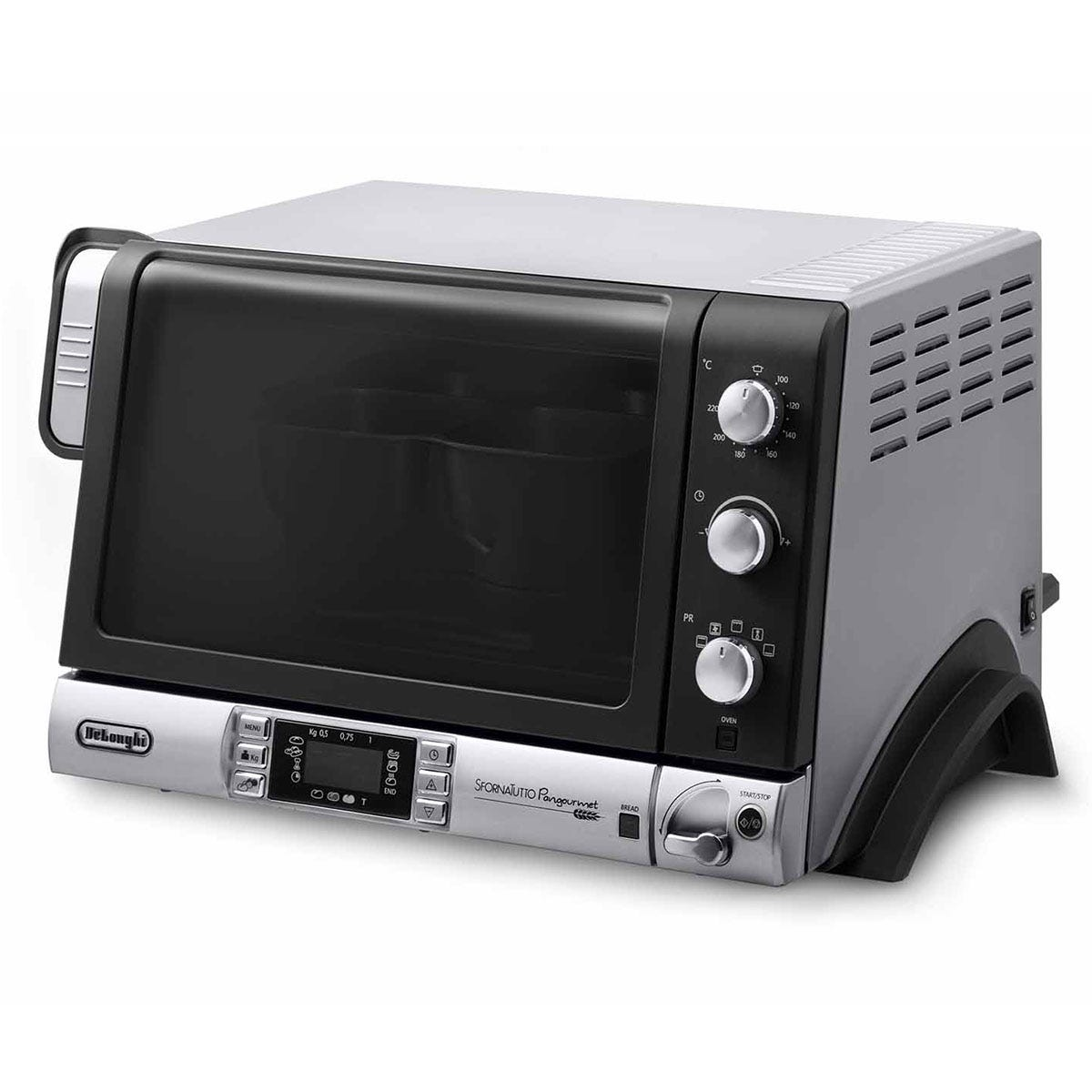 Image of DeLonghi EOB20712 Pangourmet Digital Electric Oven and Bread Maker 20L 1400W - Silver/Black