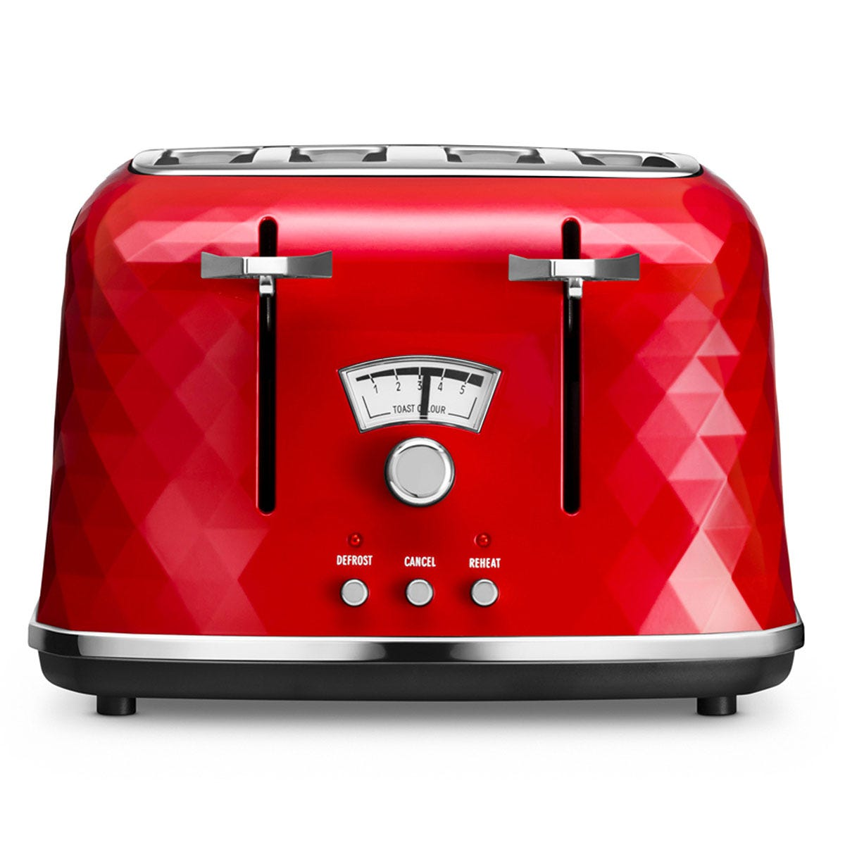 De'Longhi DeLonghi CTJ4003R 1800W Brilliante Four-Slice Toaster - Red
