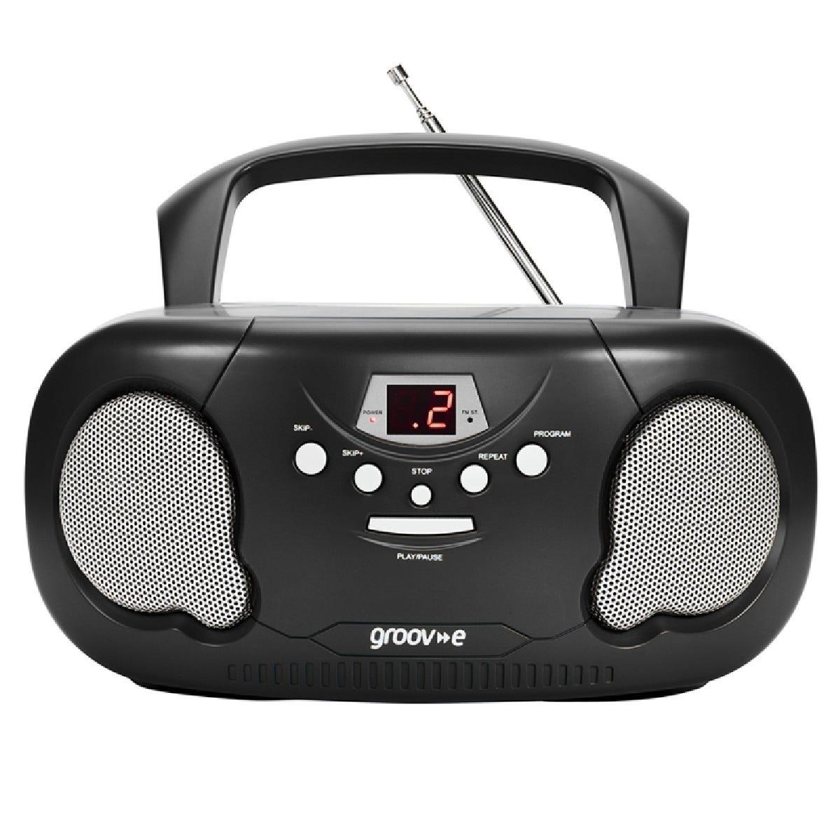 GROOV-E Original Boombox GV-PS733 Portable FM/AM Boombox - Black, Black