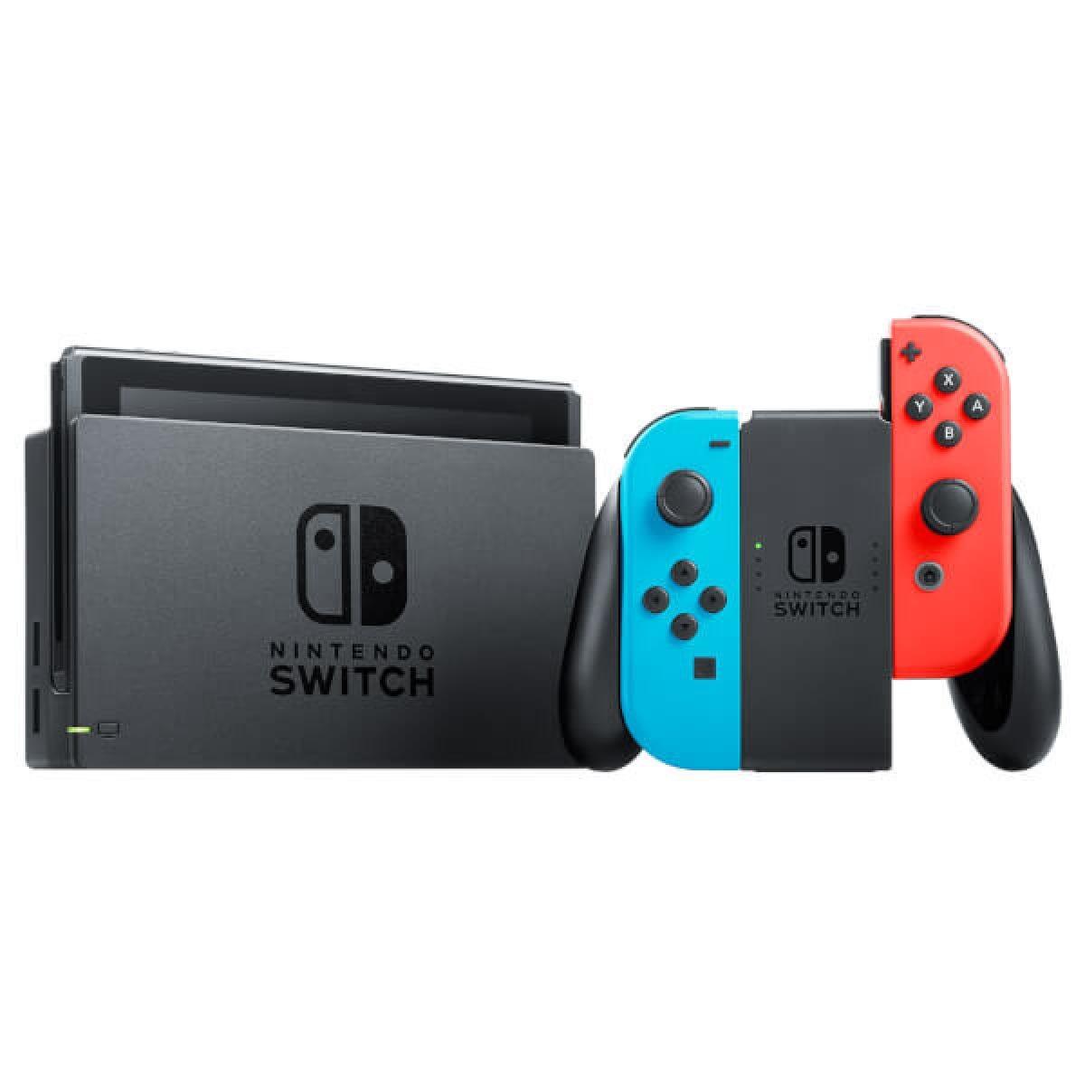 Nintendo Switch - Neon Red/Blue