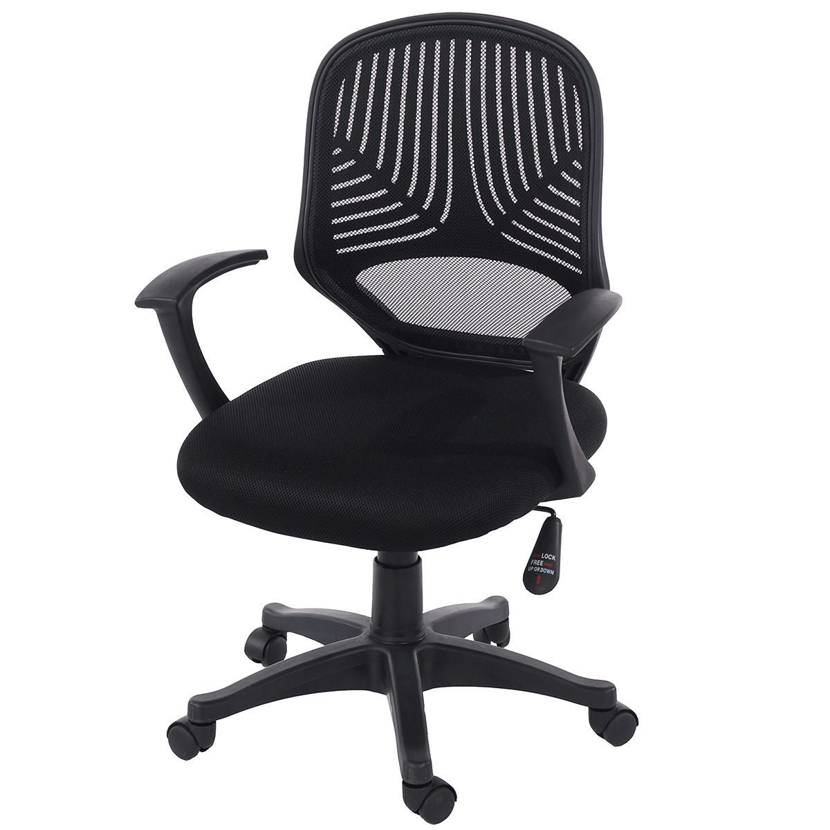 Core Products Evia Home Office Chair with Mesh Back - Black