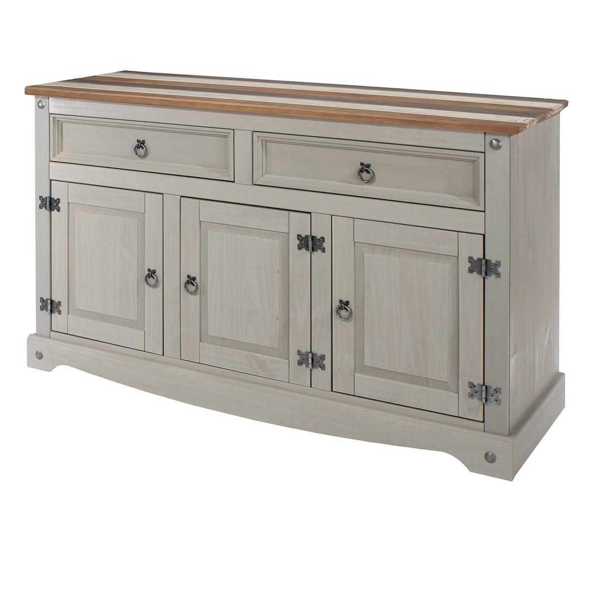 Halea Medium Vintage Sideboard - Grey