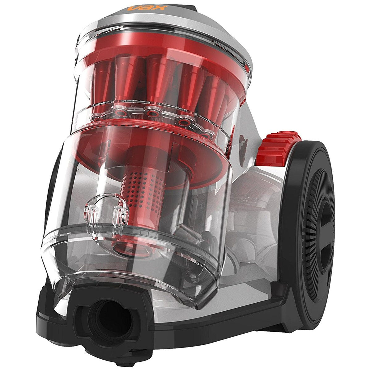 Vax CCQSAV1T1 Air Total Home Bagless 1.5L Cylinder 900W Vacuum Cleaner- Silver/Red