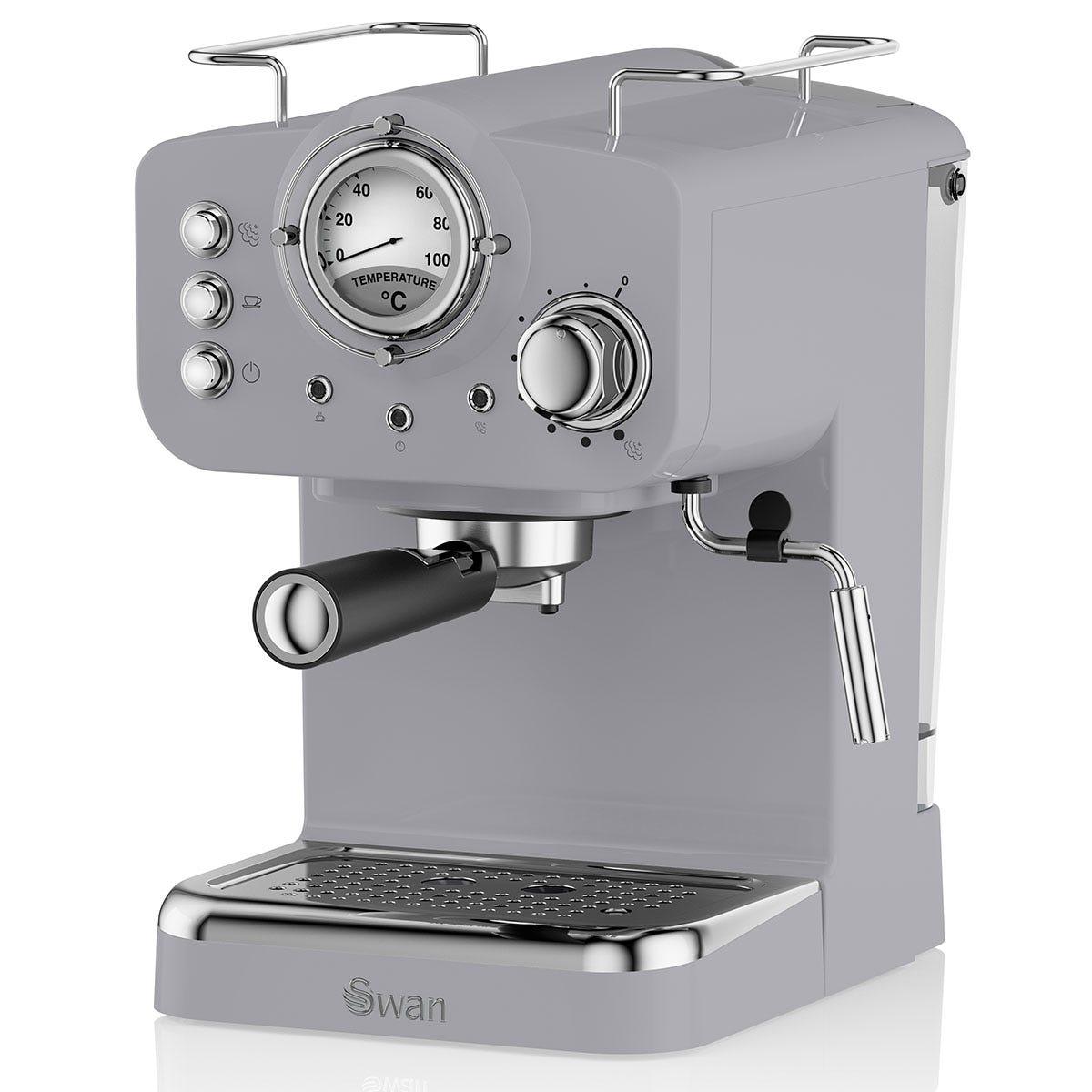 Swan SK22110GRN Retro Pump Espresso Coffee Machine - Grey