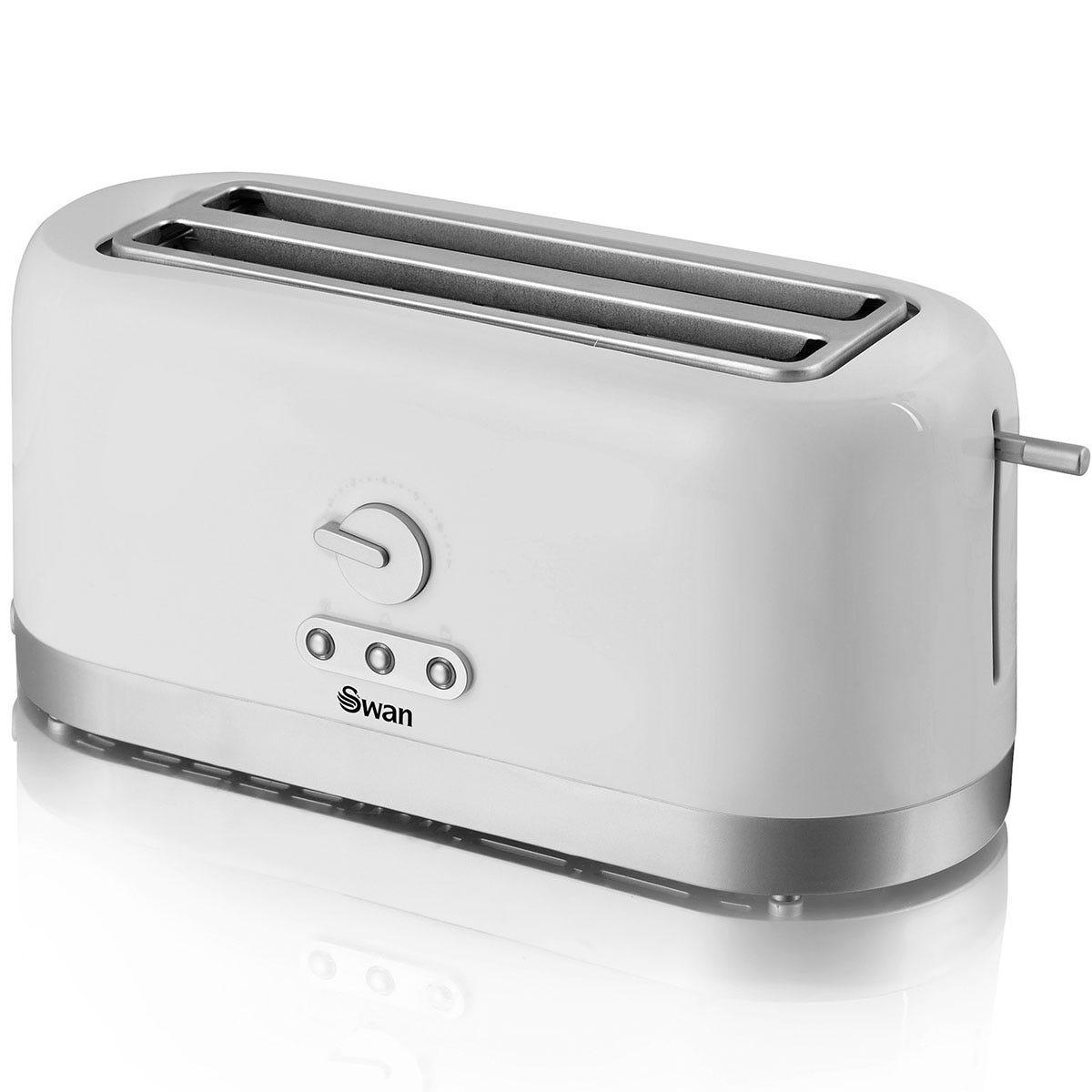 Swan ST10091N 4-Slice Long Slot Toaster - White