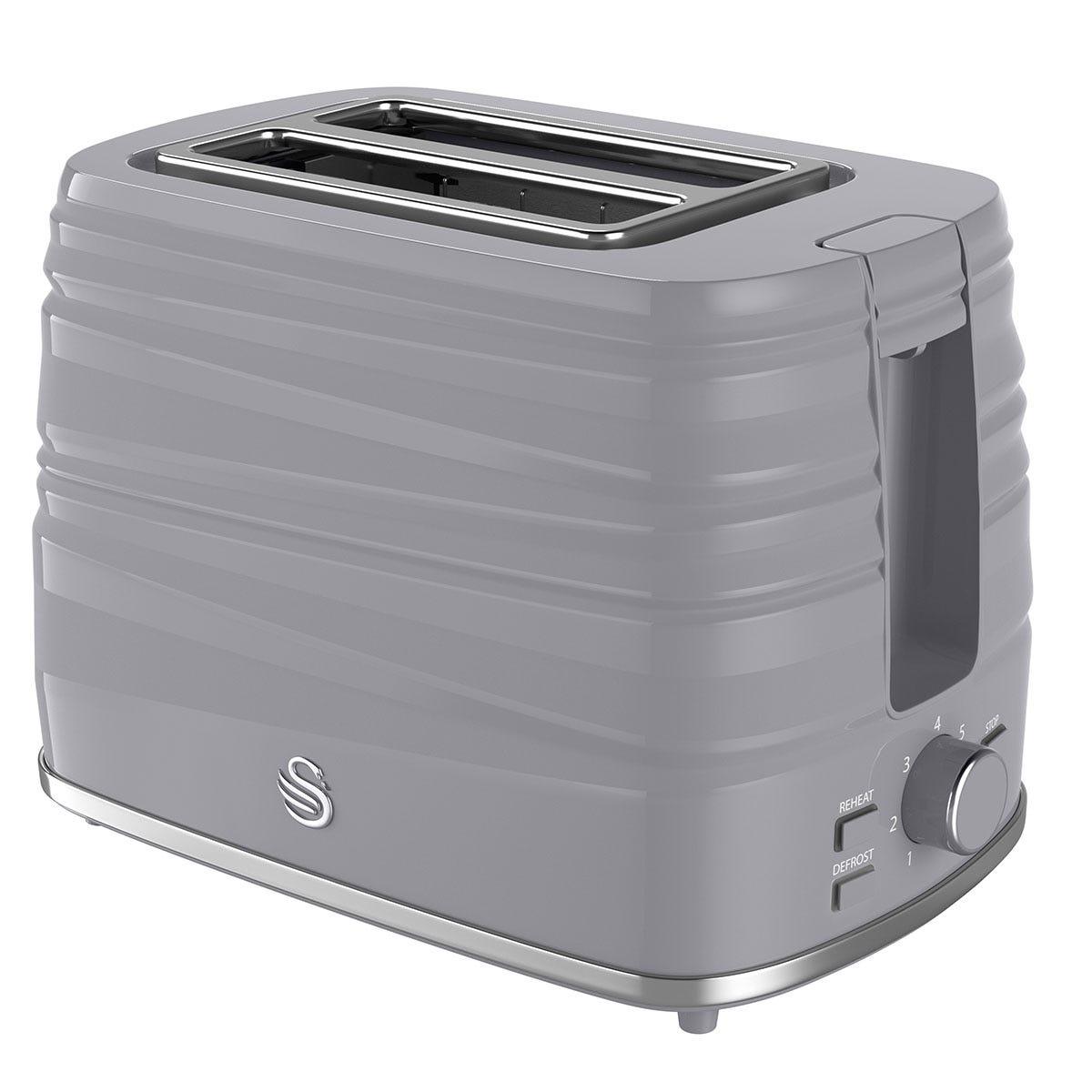 Swan ST31050GRN 2-Slice Toaster - Grey