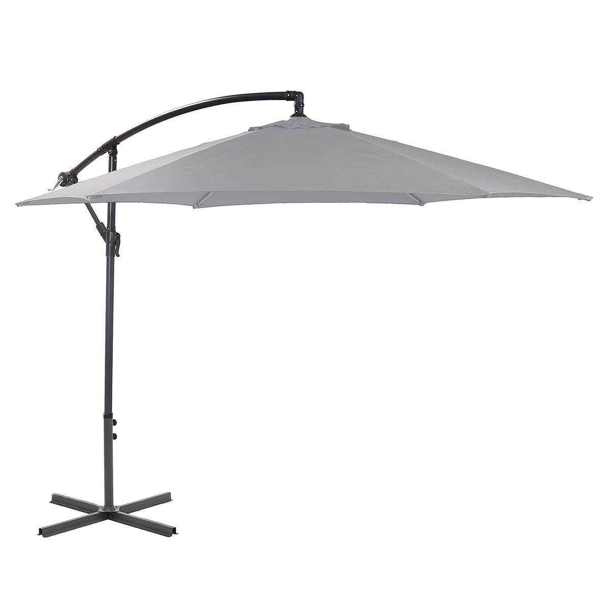 Charles Bentley 3m Cantilever Parasol (base not included)- Grey