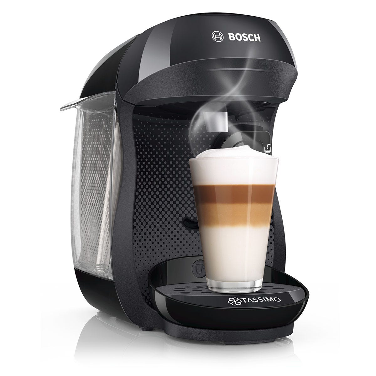 Bosch Tassimo Happy Pod Coffee Machine - Black