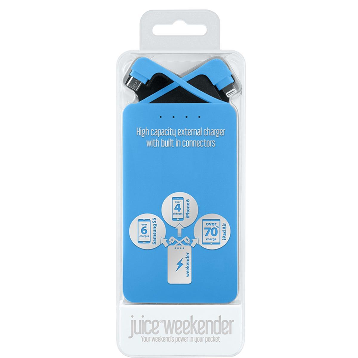 Image of     Juice Weekender 8,400mAh Power Bank - Aqua