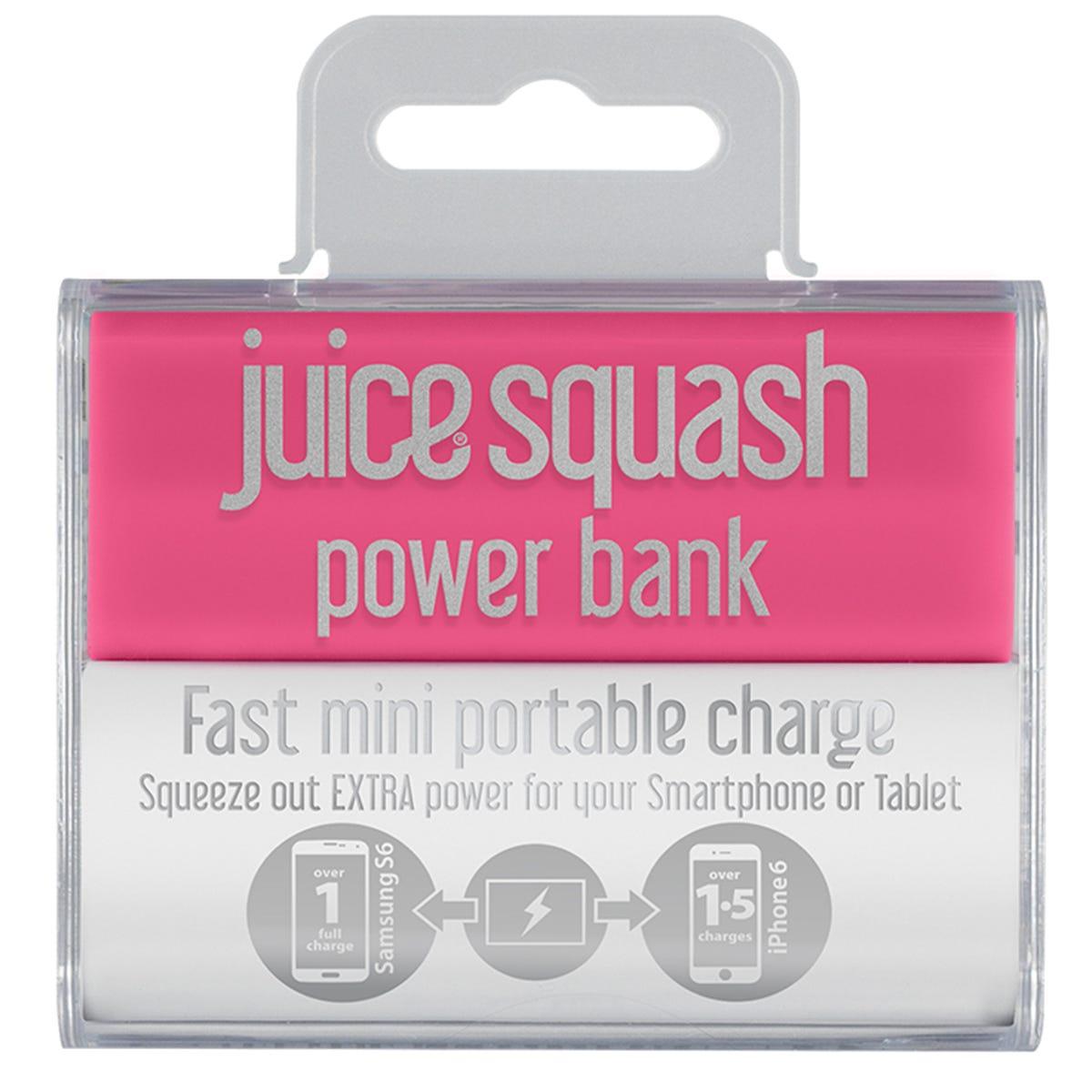 Image of Juice Squash 2,800mAh Power Bank - Pink