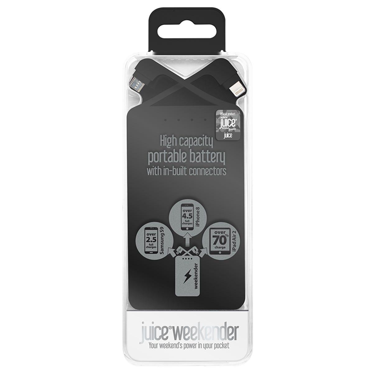 Image of Juice Weekender 8,400mAh Power Bank - Black