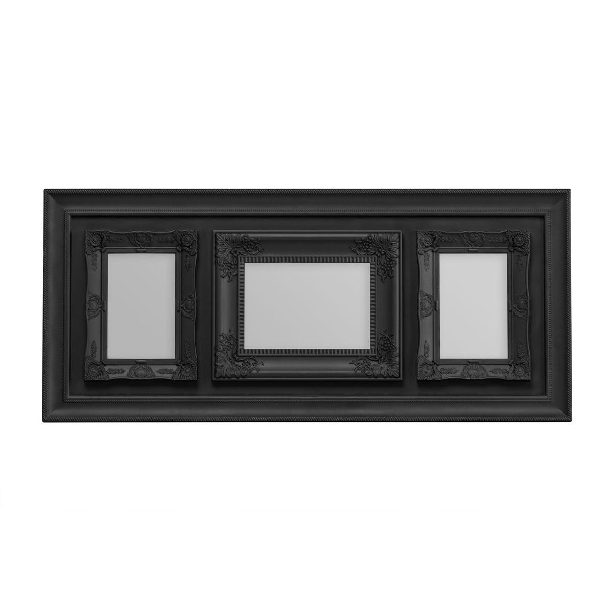 "Premier Housewares Multi Frame 3 Photo Black Plastic Vintage Style Frame - 1 of 5 x 7"", 2 of 4 x 6"""