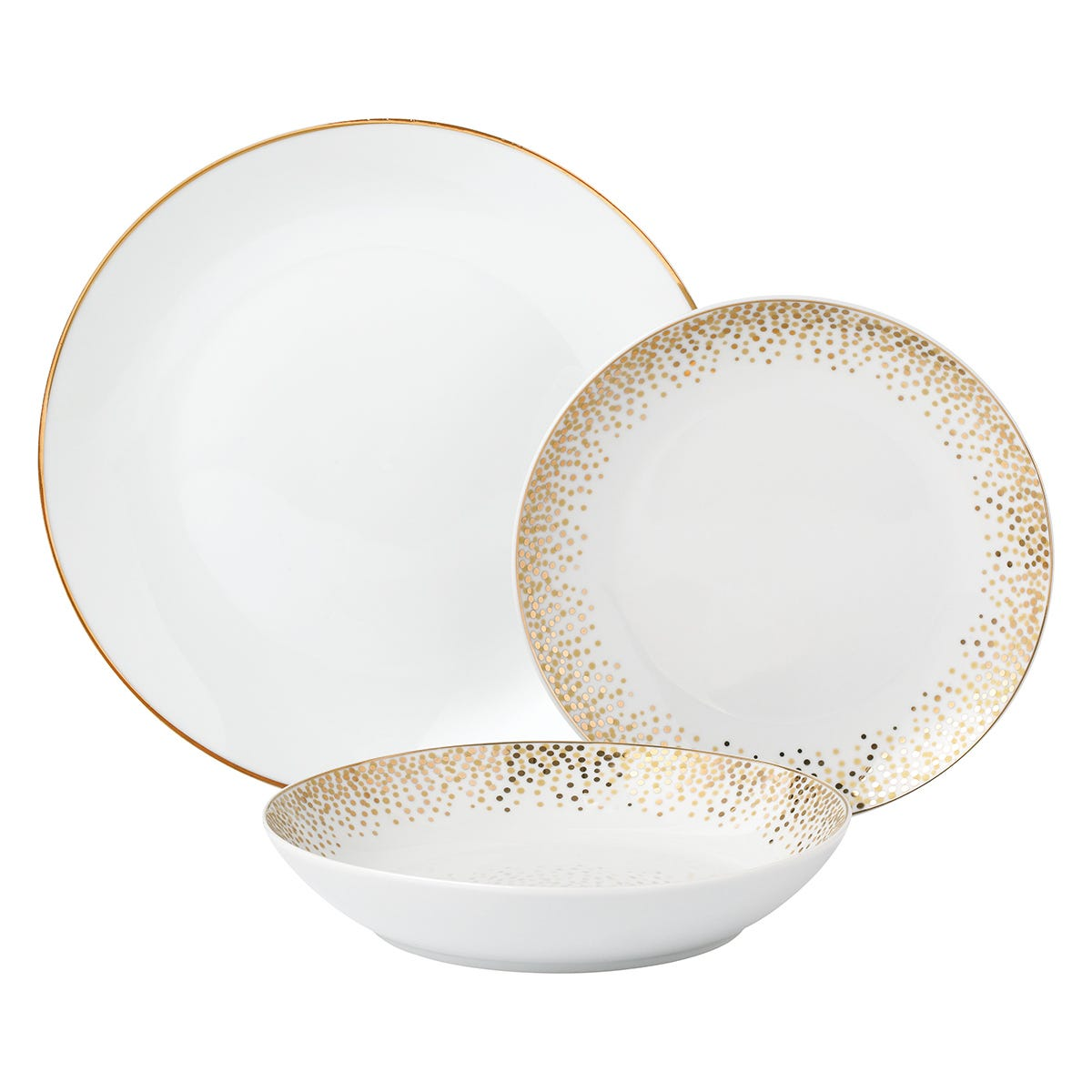 12-Piece Celebration Dinner Set - Gold