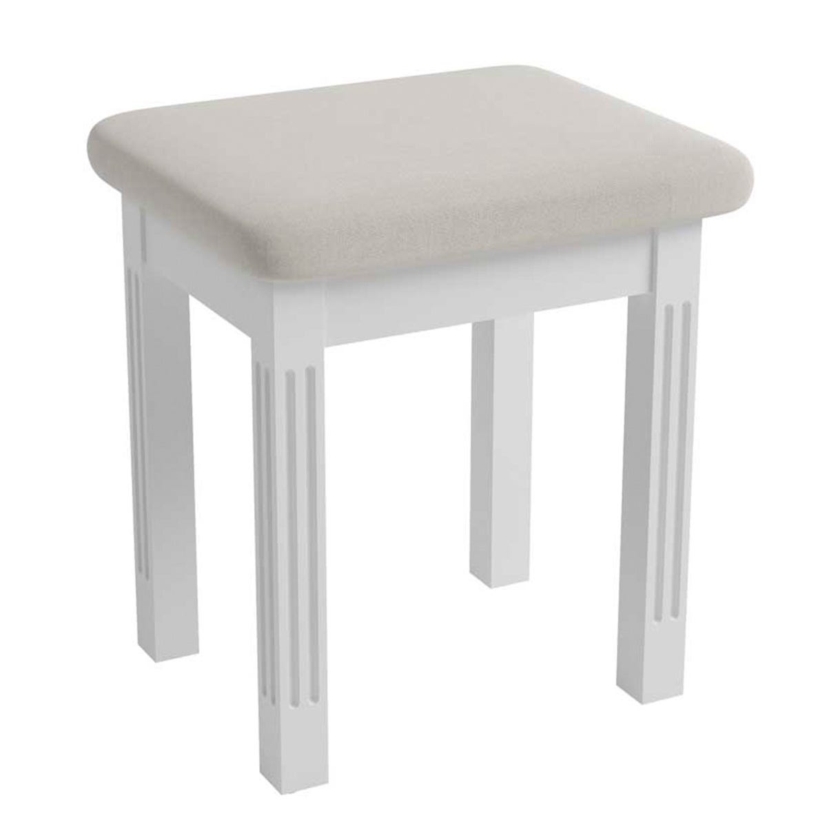 Bingley Dressing Table Stool - White