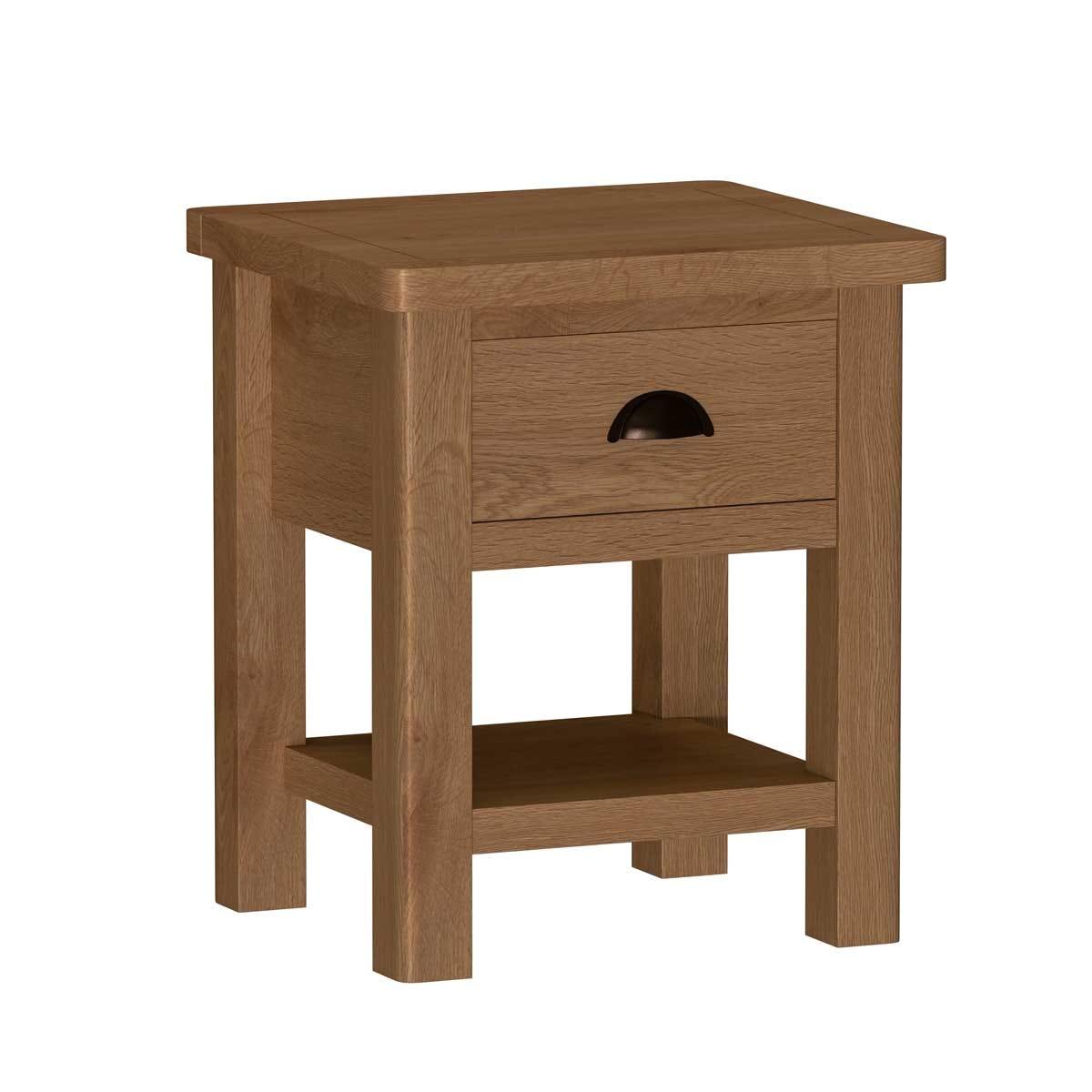 Rosewell Natural Oak Lamp Table