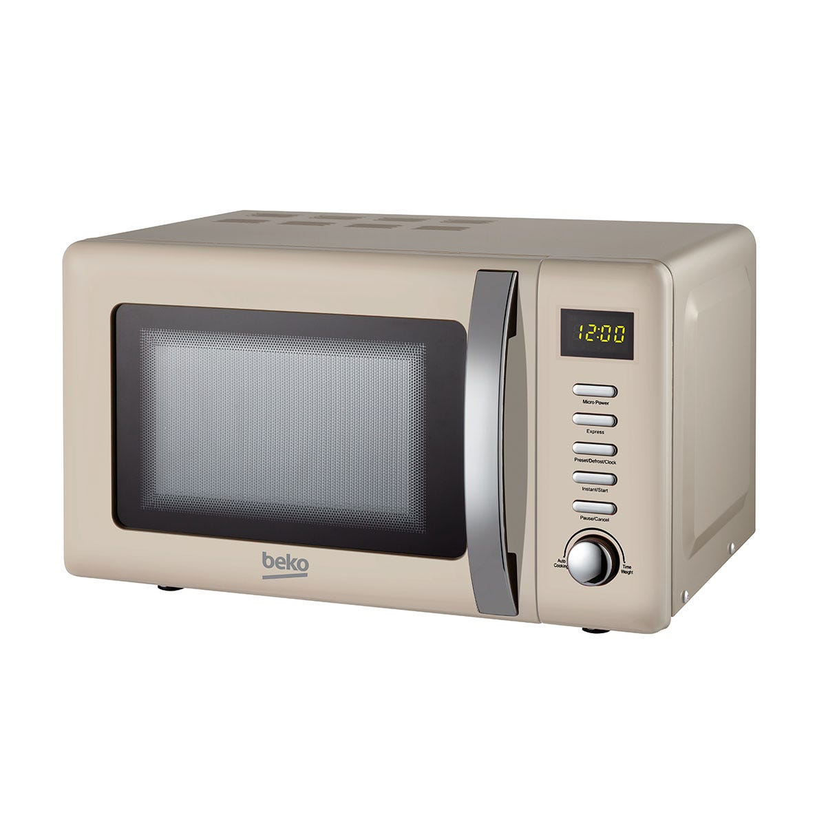 Beko MOC20200C 800W Retro 20L Compact Microwave - Cream