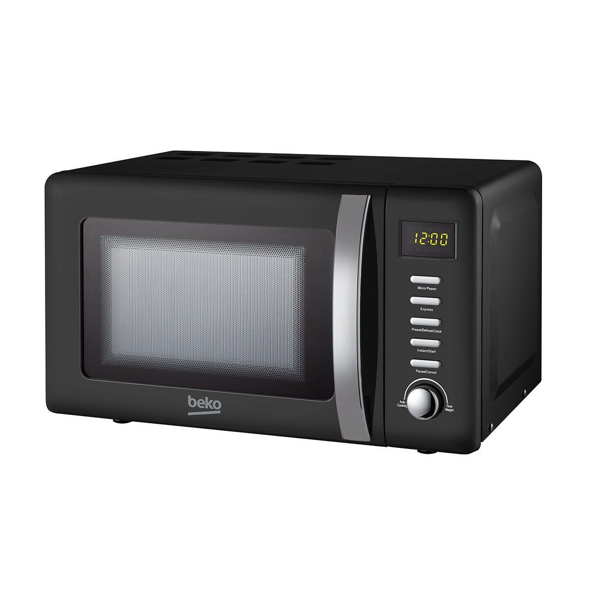 Beko MOC20200B Retro 20L Compact 800W Microwave - Black