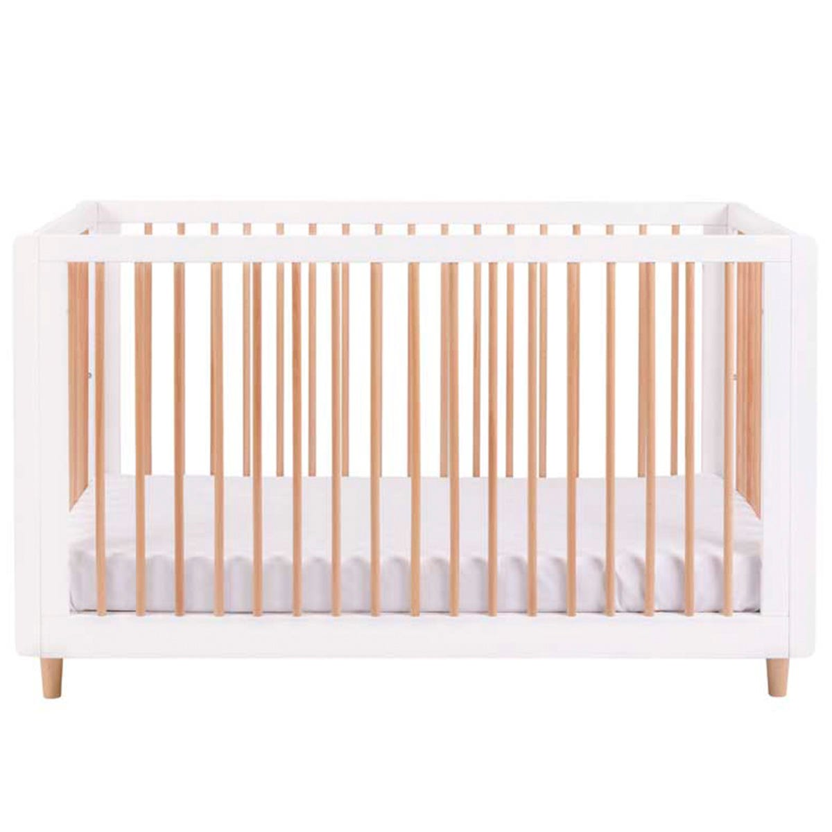 Tutti Bambini Siena 3-in-1 Cot Bed - White & Beech