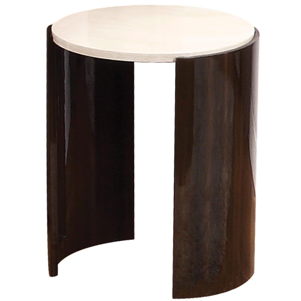 Jual Milan Walnut High Gloss Lamp Table - Large