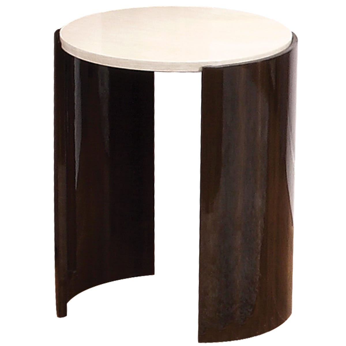 Jual Milan Walnut High Gloss Lamp Table - Small