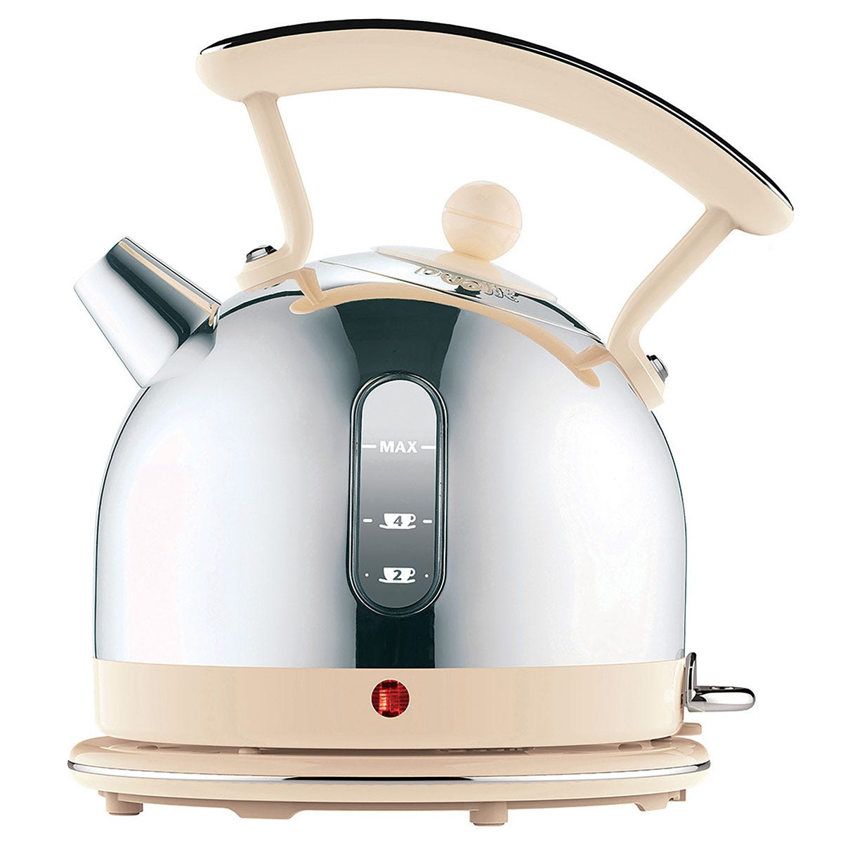 Dualit DA7222 Lite 1.7L Cordless Dome Kettle with Viewing Window - Cream