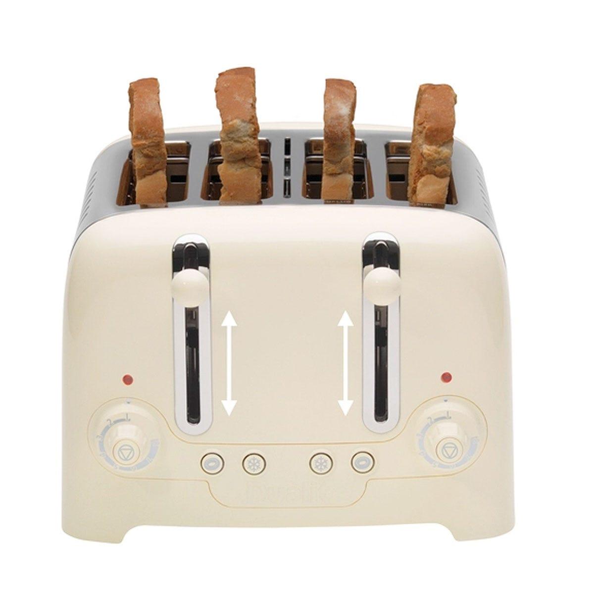 Dualit DA6202 4-Slot High Gloss Lite Toaster - Cream