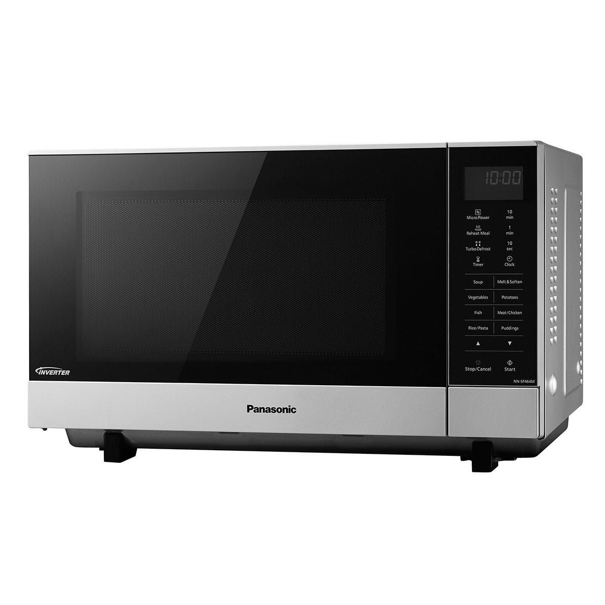 Panasonic NN-SF464MBPQ 27L 1000W Flatbed Digital Solo Microwave - Stainless Steel