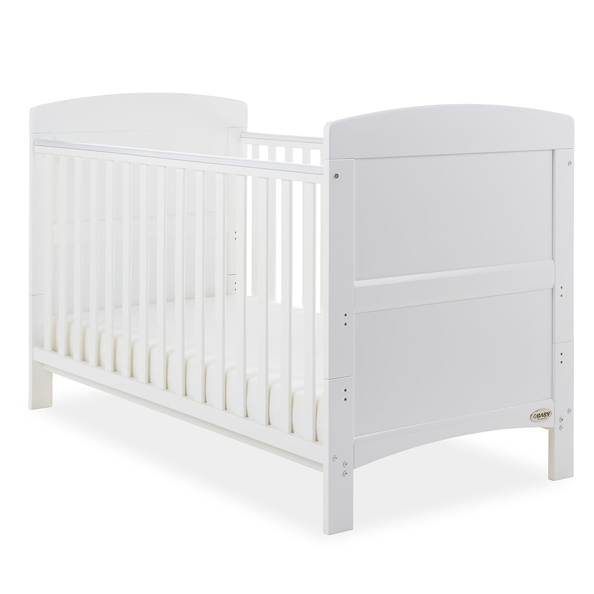 Obaby Grace Baby Cot Bed - White