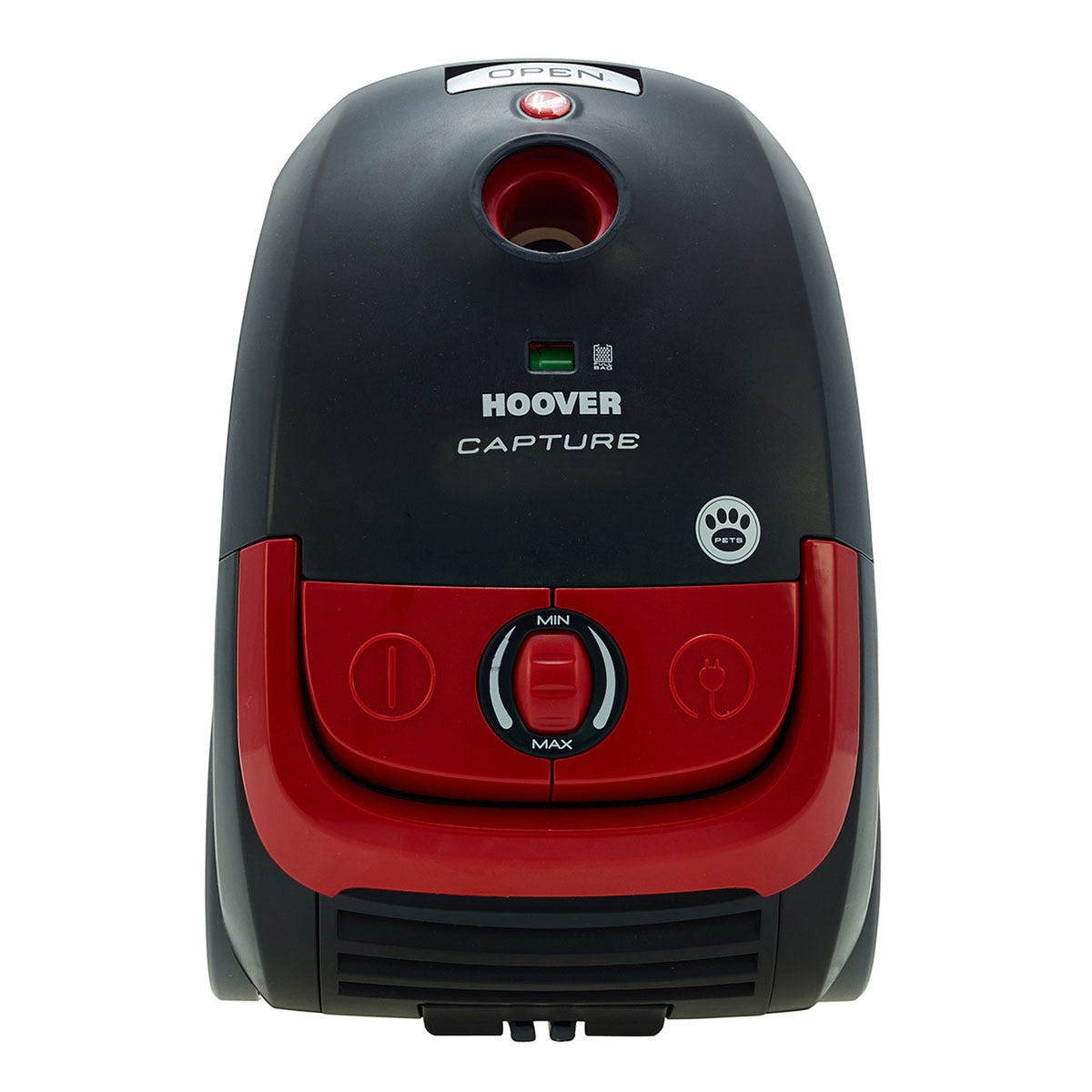 Image of Hoover Capture Bagged Pets Cylinder Vacuum Cleaner - Red & Black