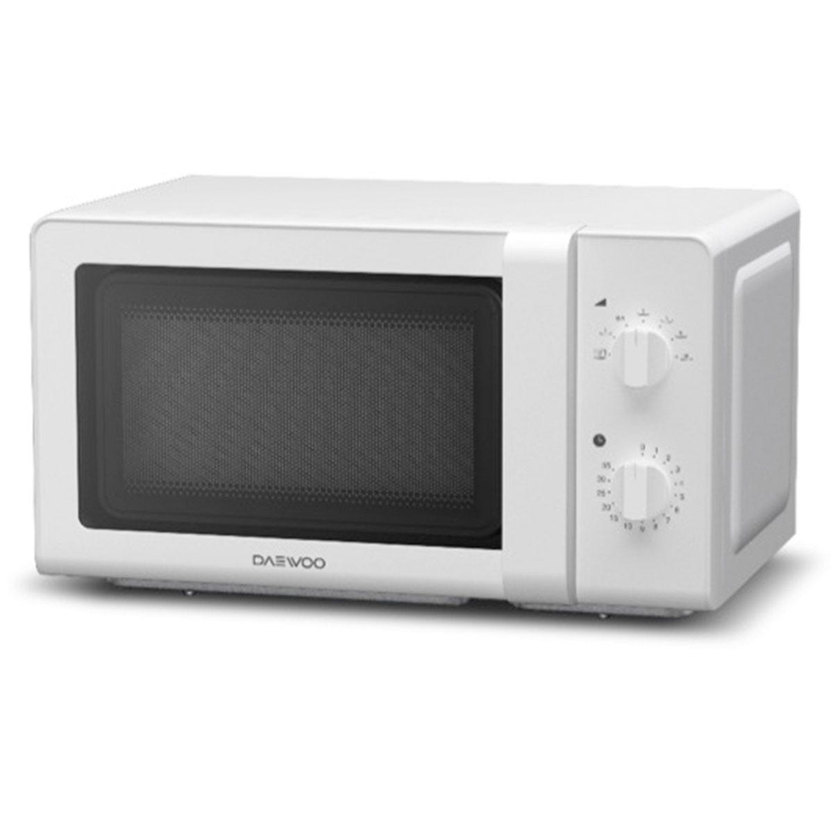 Daewoo KOR6M27R 800W Solo Manual Control 20L Microwave - White