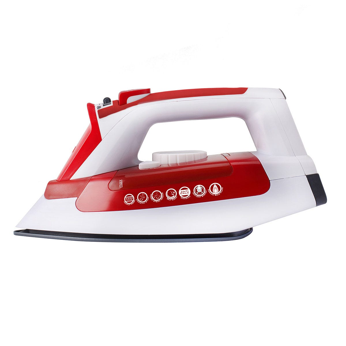 Hoover TIL2200001 IronJet 2200W Steam Iron - White and Red
