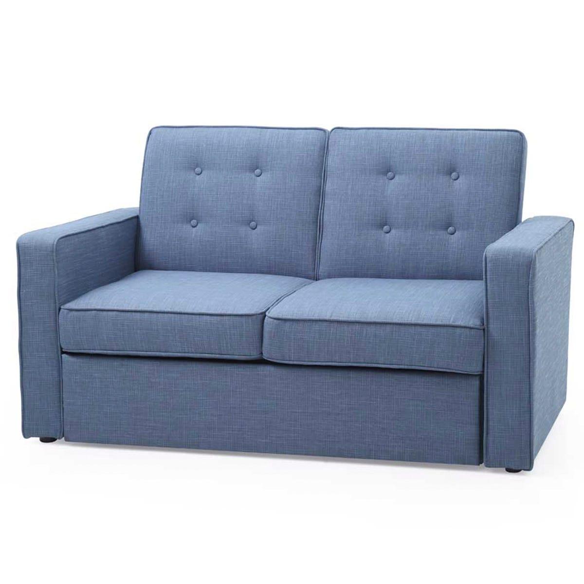 Jester 2 Seater Sofa Bed - Denim Blue