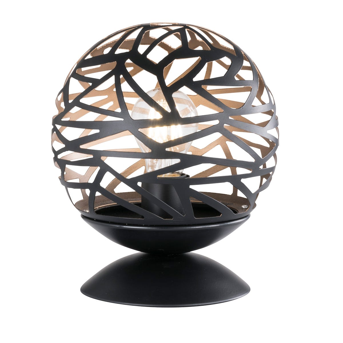 Wofi Rachel Table Lamp - Black/Gold