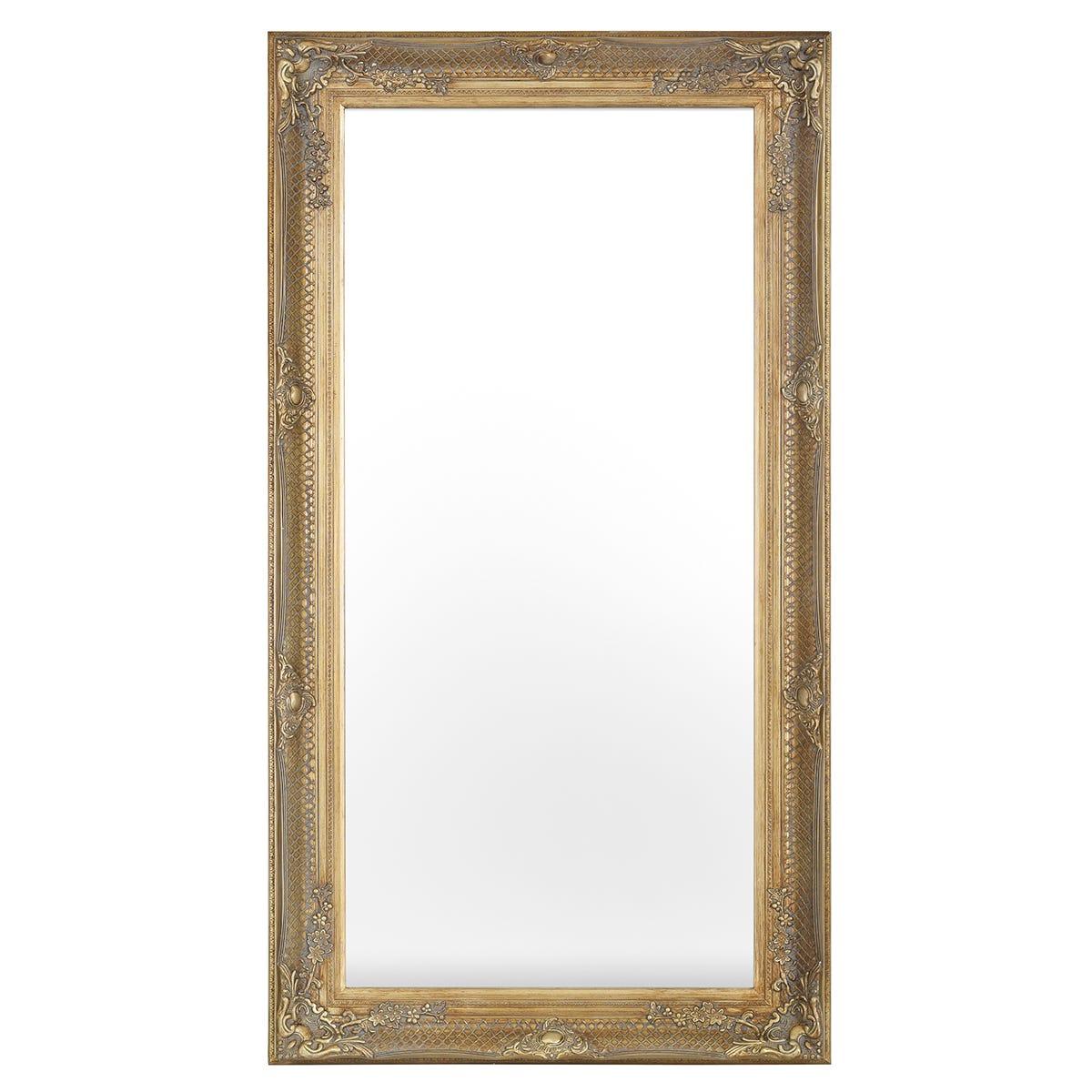 Belgrave Antique Gold Effect Leaner Mirror