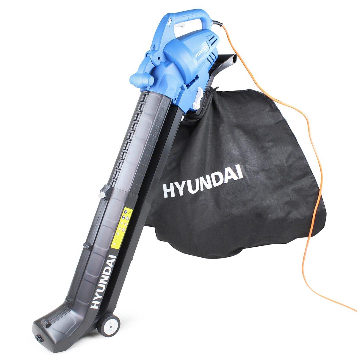 Hyundai HYBV3000E 3000W 3-in-1 Leaf Blower, Garden Vacuum & Shredder with 45L Collection Bag