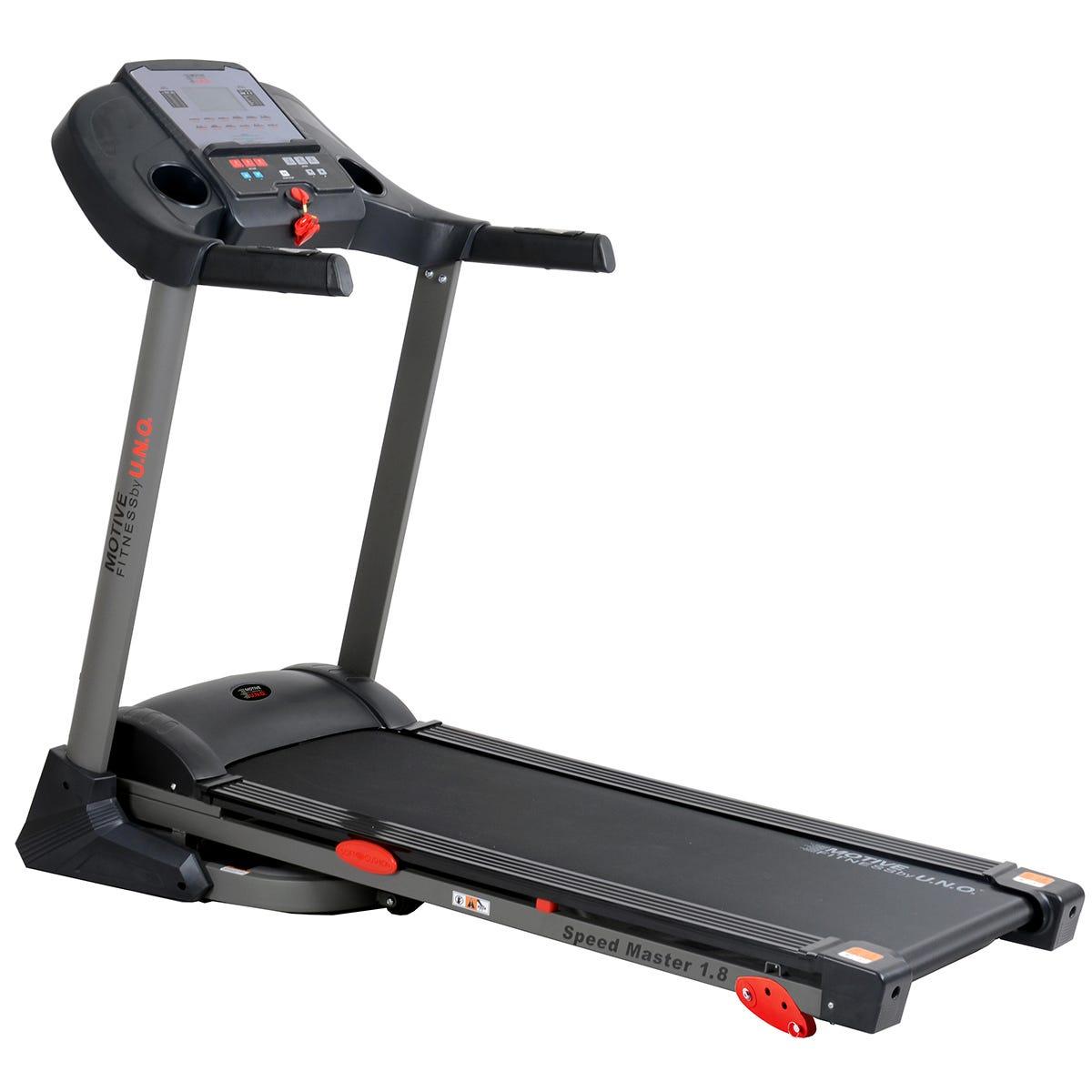 Motive Fitness MOTIVEfitness by UNO Speedmaster 1.8M Manual Incline Treadmill - Black