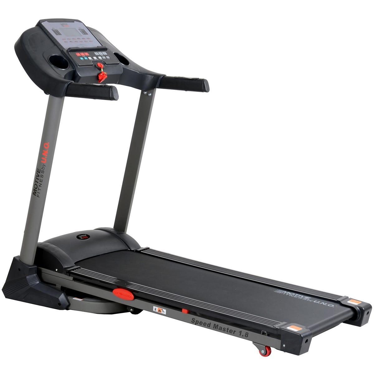 Motive Fitness MOTIVEfitness by UNO Speedmaster 1.8 Programmable Power Incline Treadmill - Black
