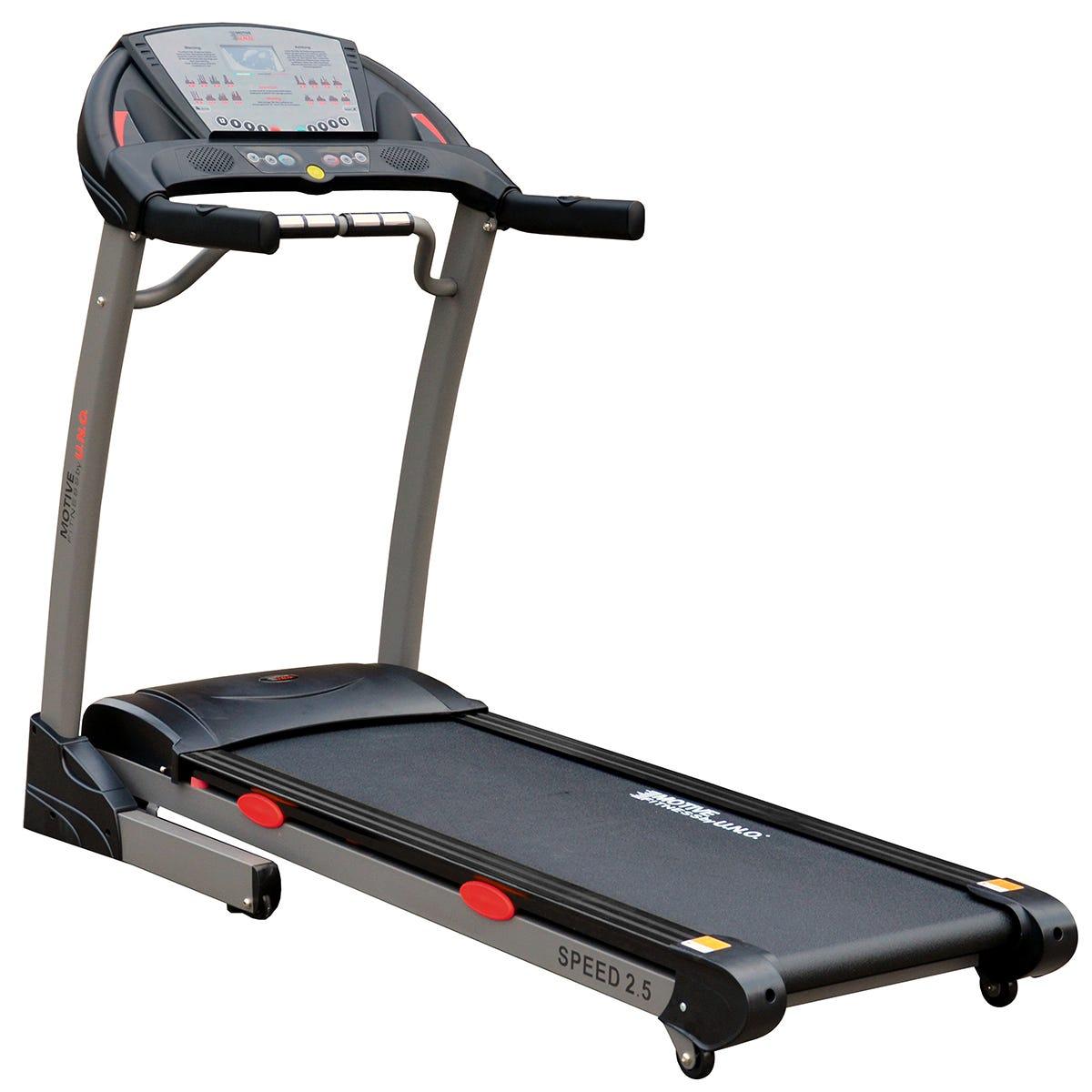 Motive Fitness MOTIVEfitness by UNO Speed 2.5 Programmable Power Incline Treadmill