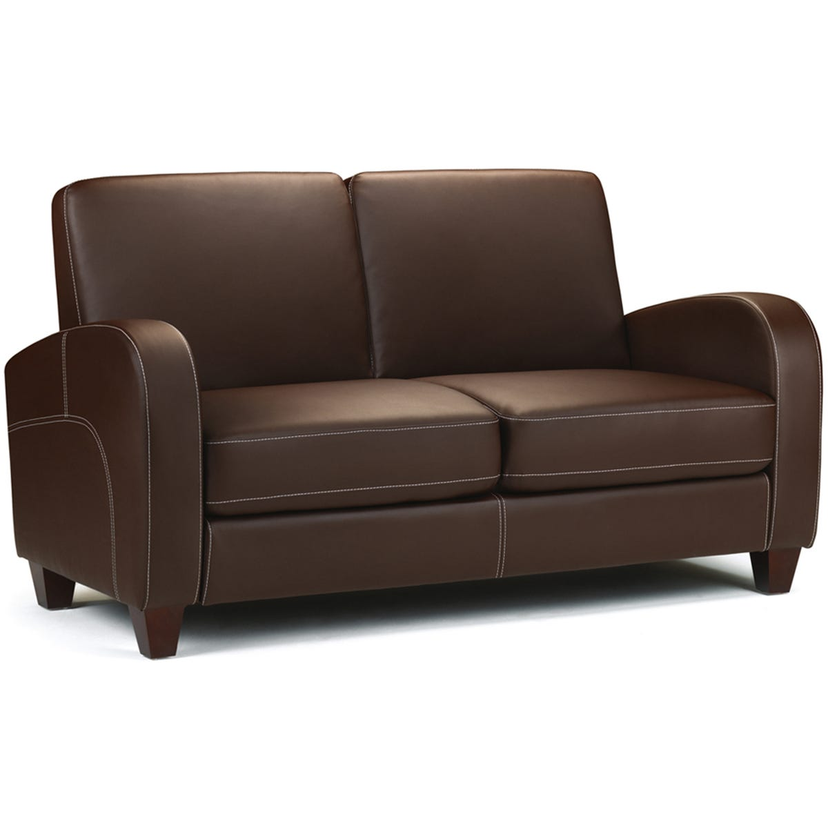 Julian Bowen Vivo 2 Seater Sofa - Chestnut Faux Leather