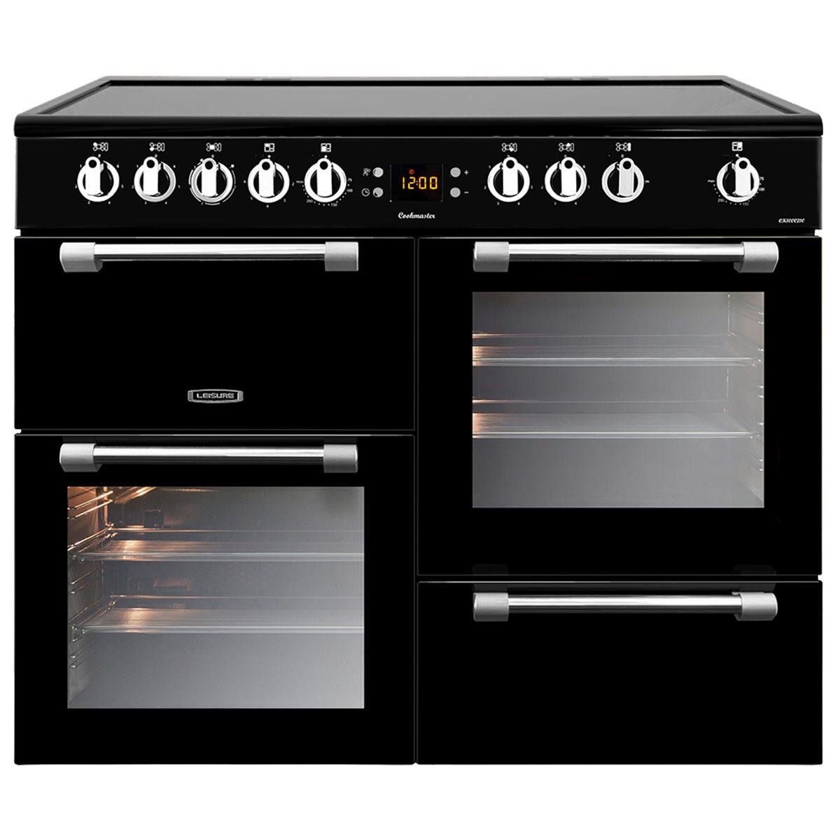 Leisure CK100C210K 100cm Cookmaster Electric Range Cooker - Black