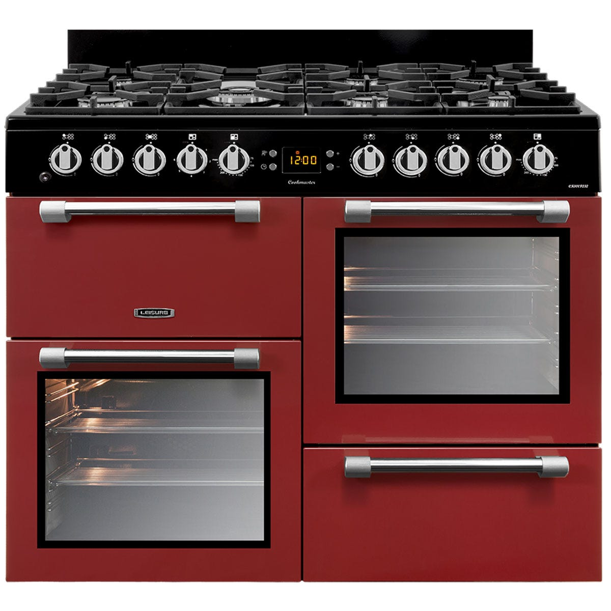 Leisure CK100F232R 100cm Cookmaster Dual Fuel Range Cooker - Red
