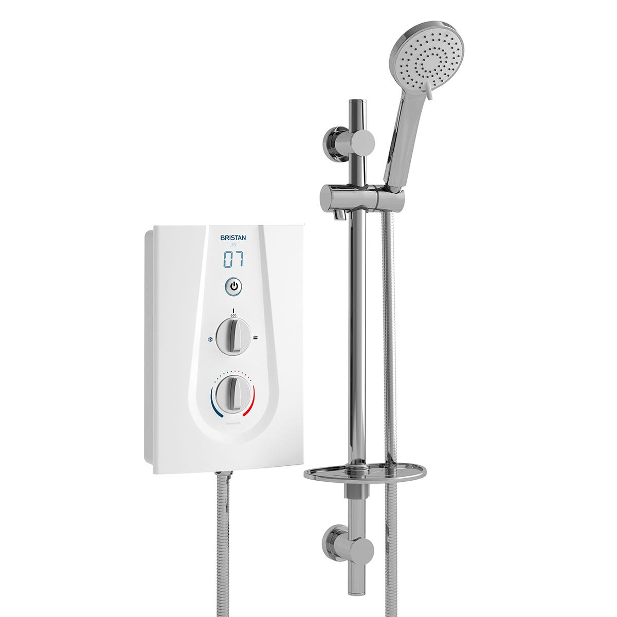 Bristan Joy Thermostatic 9.5kw Electric Shower White