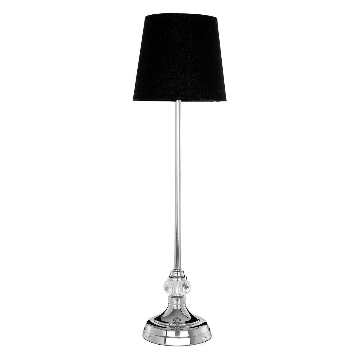 Premier Housewares Ursa Table Lamp with Black Shade
