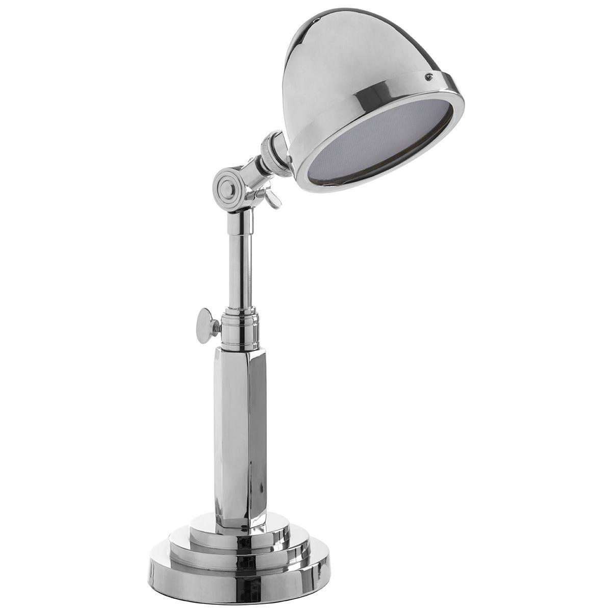 Premier Housewares Macon Adjustable Table Lamp - Silver Finish